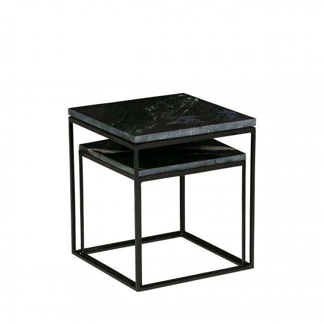 Mellow - 2 tables d'appoint gigognes en marbre