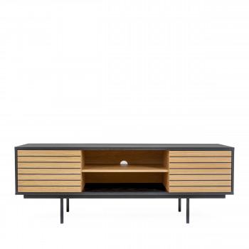 Stripe - Meuble TV design en bois et métal