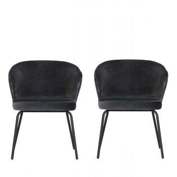 Admit - 2 chaises en velours