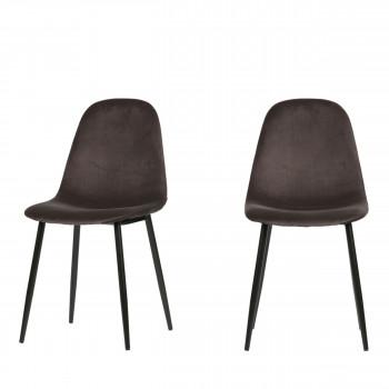 Marije - 2 chaises en velours