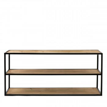 Eszential - Table basse en bois et métal 90x30cm
