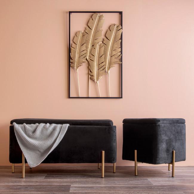 Snog - Banc en métal et velours