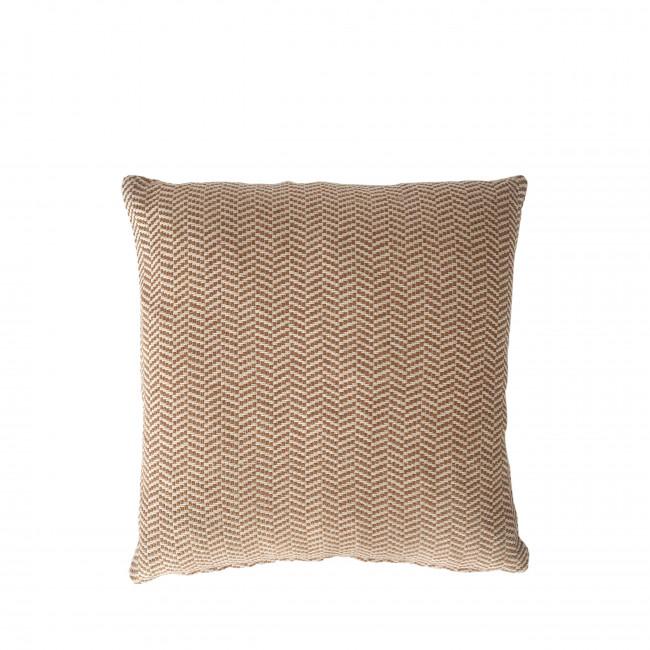Udaipur - Coussin en coton recyclé  motifs chevrons 45x45cm