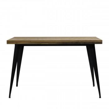 Tucker - Table à manger en métal et bois 120x60cm