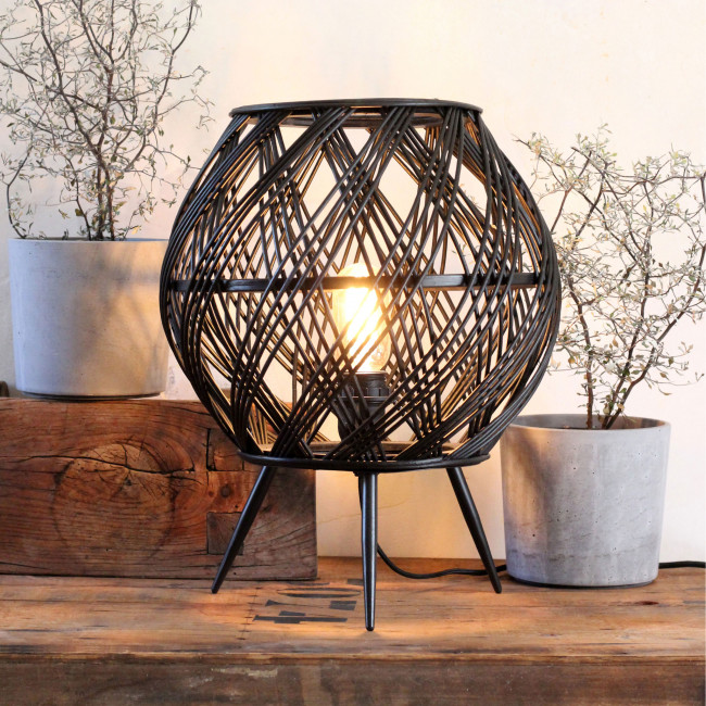 Santiago - Lampe à poser en rotin