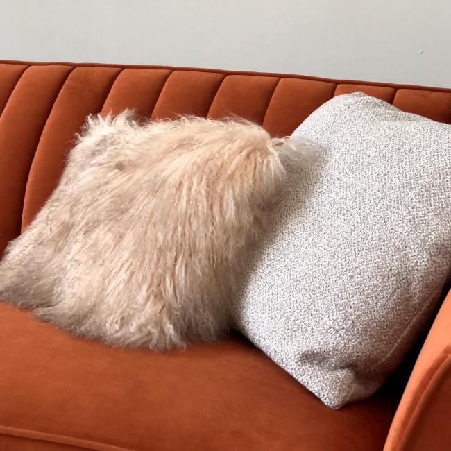 Mjels - Coussin en fourrure 40x30 cm