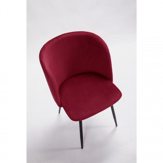 Lot de 2 fauteuils design en velours pieds noirs Vitikko