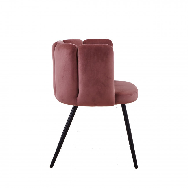 Wyns - 2 fauteuils de table en velours