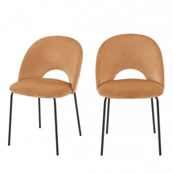 Anjum - 2 chaises en velours