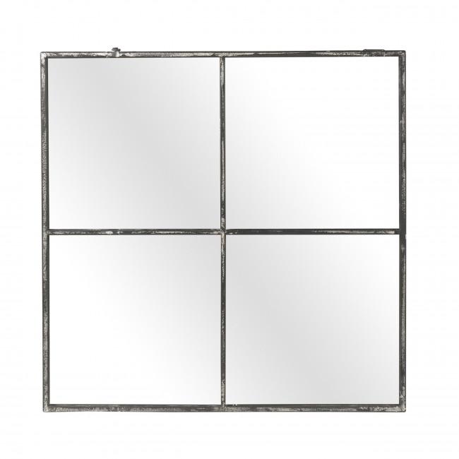 Palace - Miroir verrière en métal 80x80cm - Couleur métal oxydé