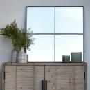 Palace - Miroir verrière en métal 80x80cm - Couleur métal