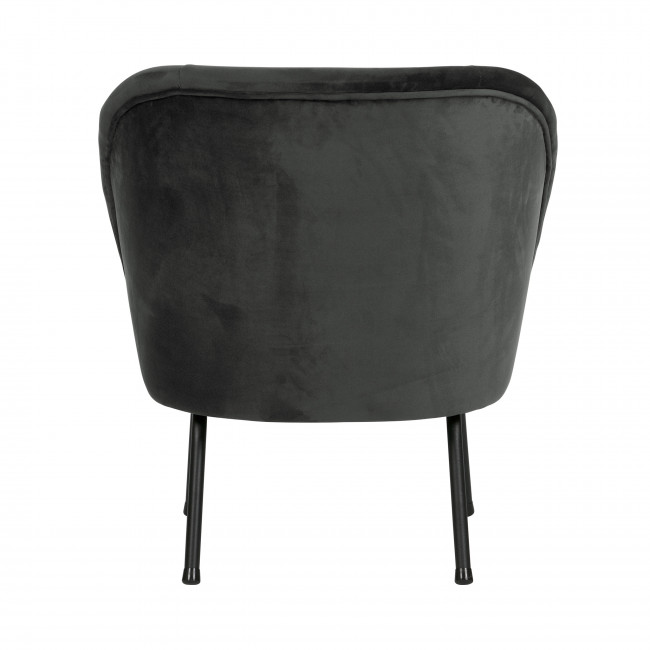 Fauteuil lounge en velours Vogue - Noir