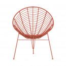 Fauteuil design Jane - Corail