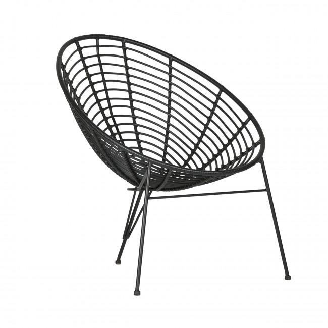 Fauteuil design Jane - Noir