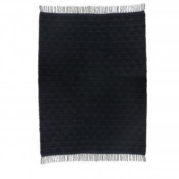 Täby - Tapis bohème en coton noir