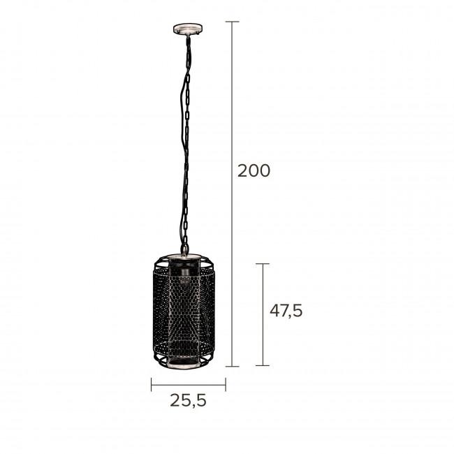 Archer - Suspension en métal ø25,5x47,5cm