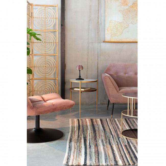 Bella - Table d'appoint ronde effet marbre ø45cm