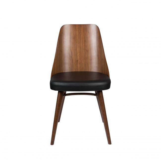 Chaya - 2 chaises en bois et simili