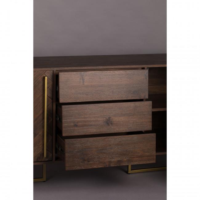 Class - Buffet design en bois et laiton H80cm