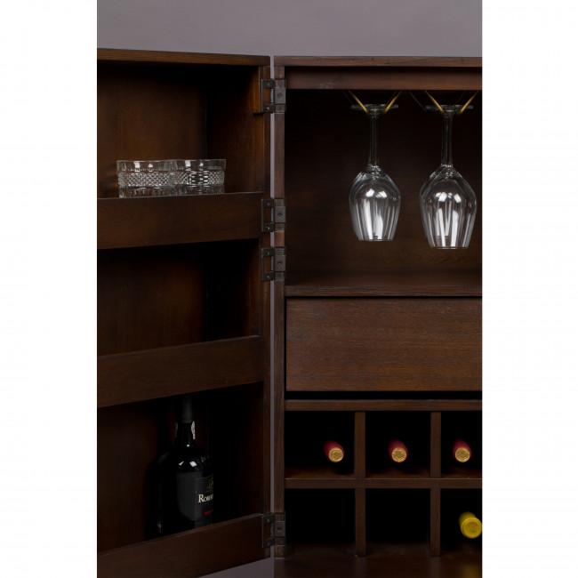 Class - Meuble bar à vin en bois et laiton