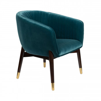 Dolly - Fauteuil vintage en velours