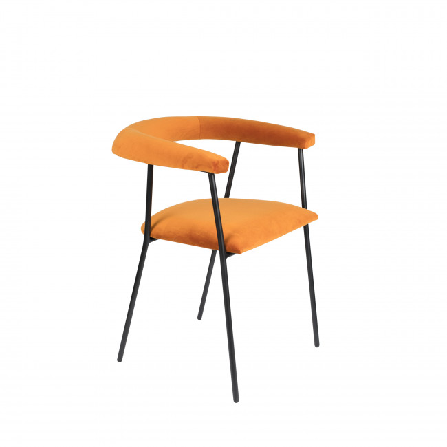 Haily - Fauteuil de table en velours