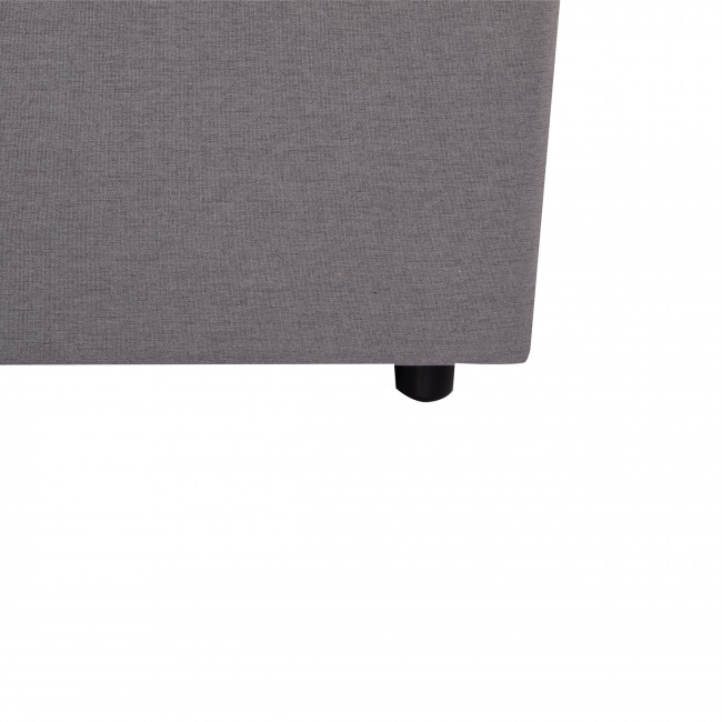 Mepple - Lit en tissu 160x200cm avec rangement intégré