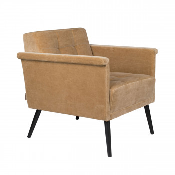 Sir William - Fauteuil vintage en velours
