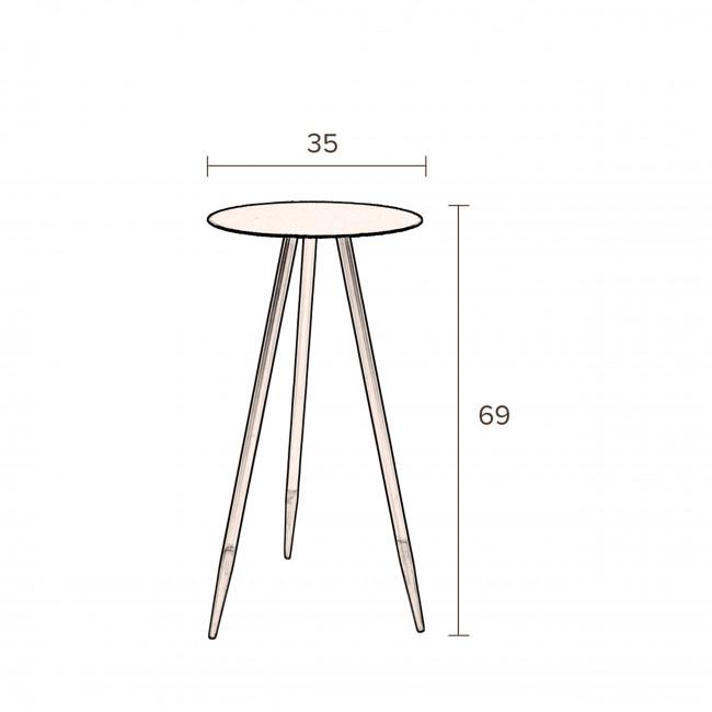 Stalwart - 2 sellettes en métal H69cm
