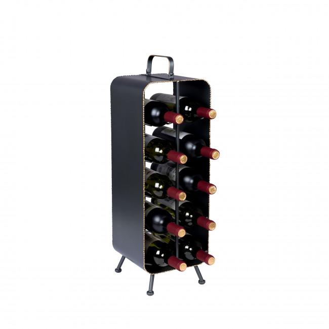 Stalwart - Casier à bouteilles en métal