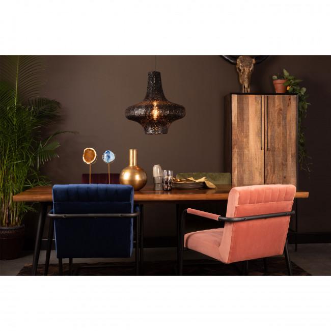 Stitched - 2 fauteuils de table en velours