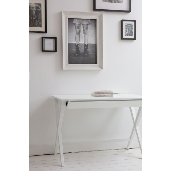 Mia - Bureau en bois - Blanc