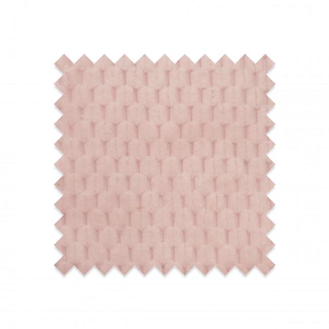 EG-D2 - Echantillon gratuit en velours structuré rose pastel