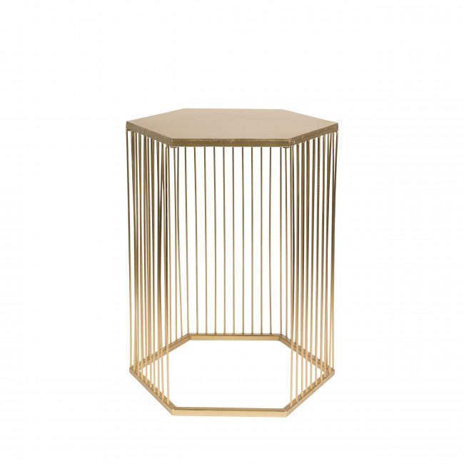 Queenbee - Table d'appoint hexagonale en métal