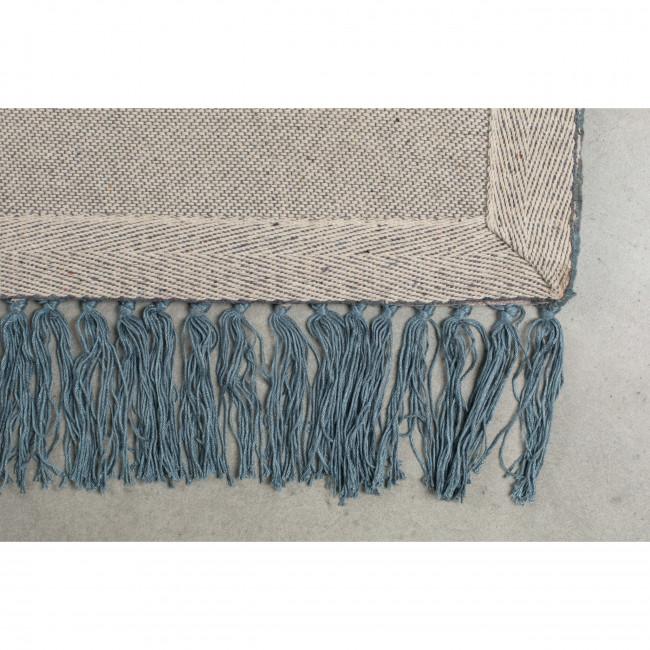 Blink - tapis à franges bleu pétrole