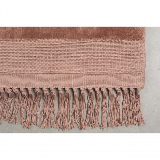 Blink - tapis à franges vieux rose