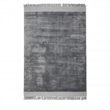 Blink - tapis à franges gris