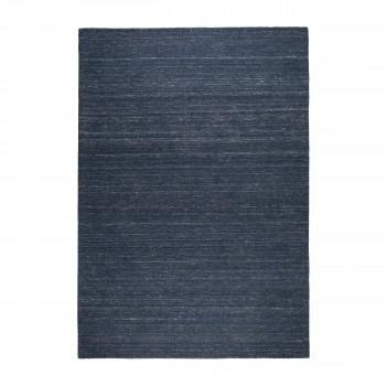 Sanders - Tapis en tissu bleu indigo