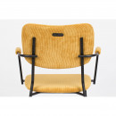 Benson - 2 fauteuils de table en velours côtelé
