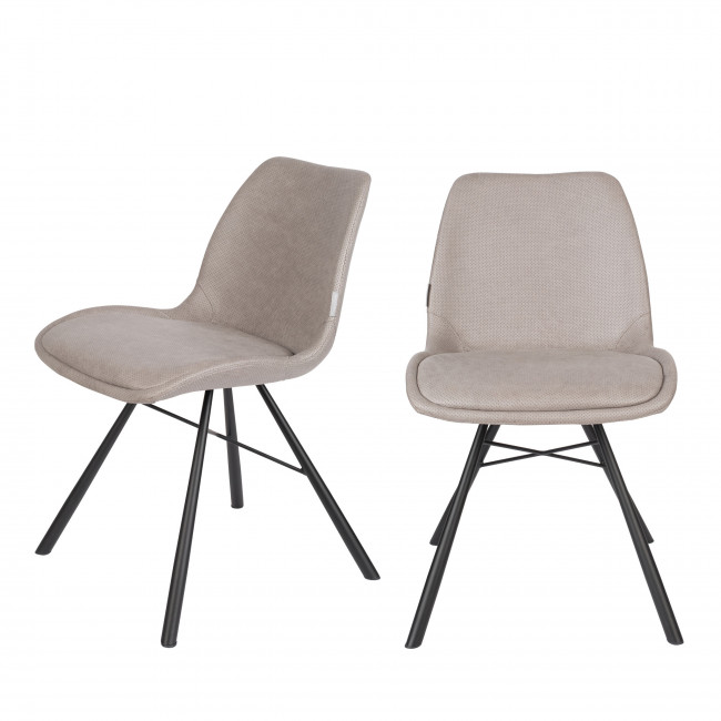 Brent Air - 2 chaises en simili micro-perforé