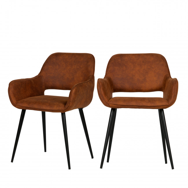 Lot de 2 fauteuils design Jelle