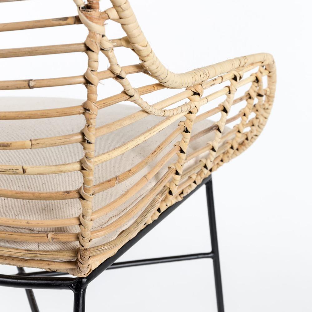 Cache Pied De Sapin Rotin fauteuil en rotin - tiger