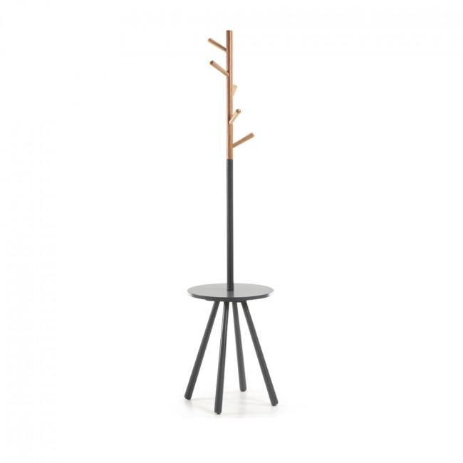 Table porte manteau design métal et bois Nerb