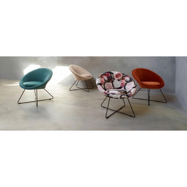 Garbo - Fauteuil en velours - Multicolore