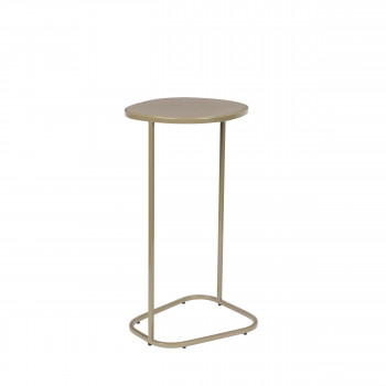 Moondrop - Table d'appoint en métal - Beige