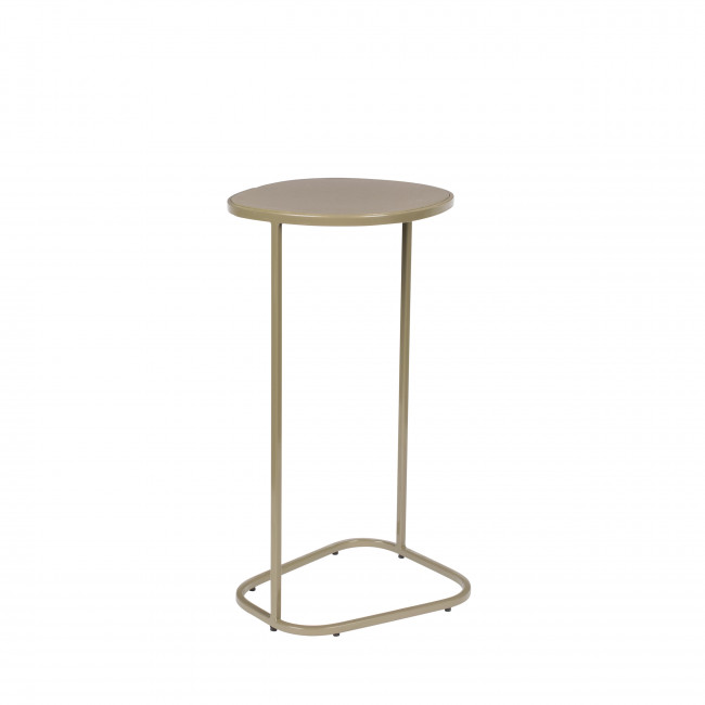 Moondrop - Table d'appoint en métal - Beige
