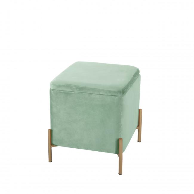 Snog - Tabouret en métal et velours - Turquoise pastel