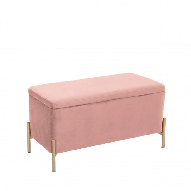 Snog - Banc en métal et velours - Rose pastel new