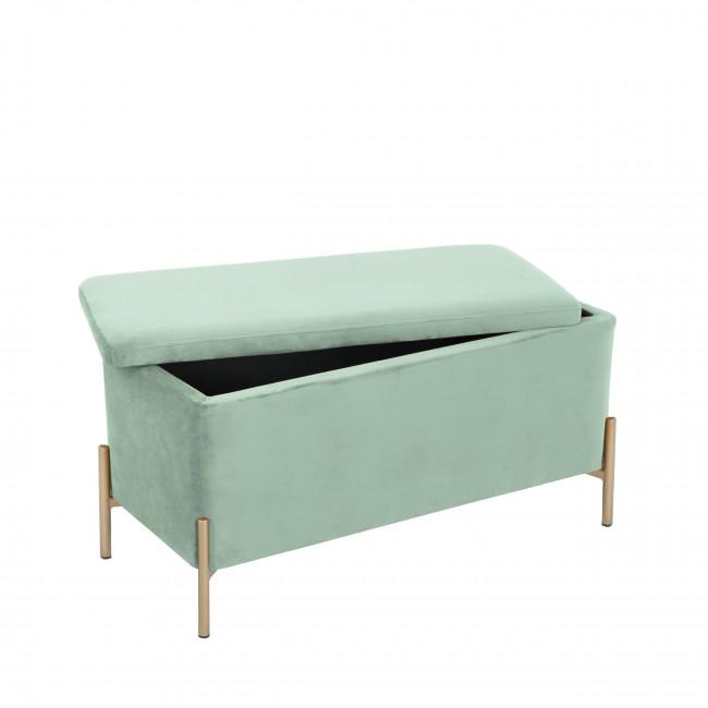 Snog - Banc en métal et velours - Turquoise new