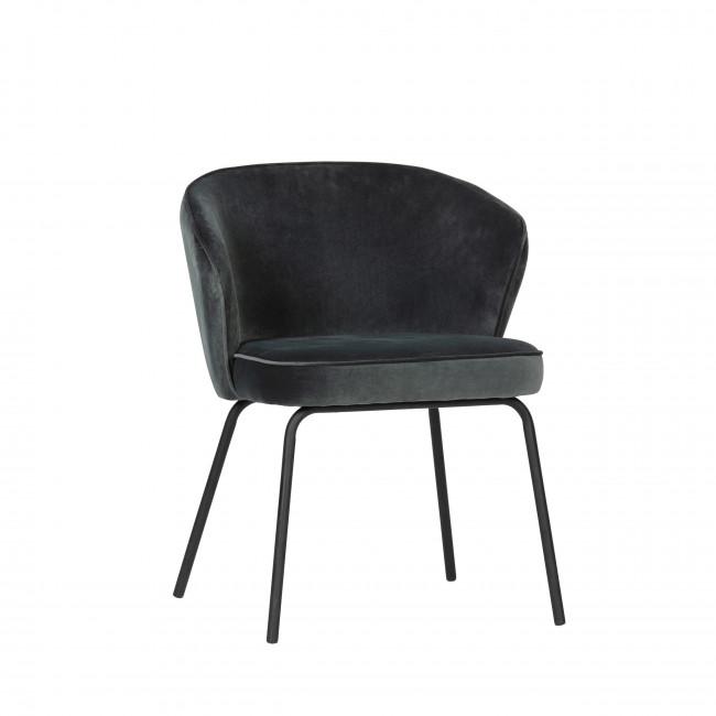 Admit - 2 chaises en velours - Bleu
